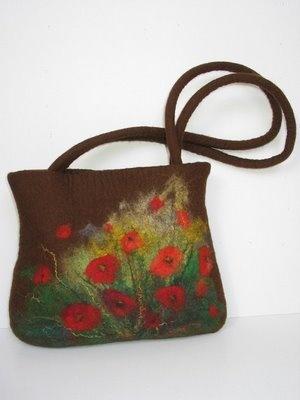 needle felted purse