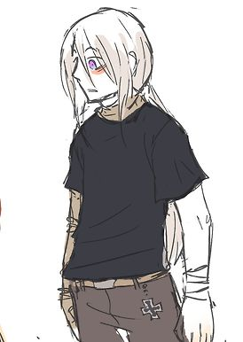2P Prussia -White wig, Jeans, Black shirt, Need to paint arm as robot and do…