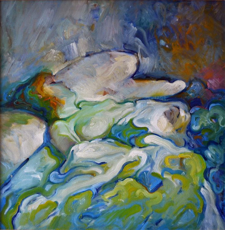 Adormilada, óleo-tabla, 60x73 cm.