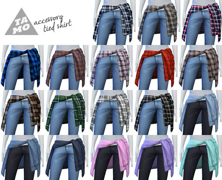 tamo: [TS4] Accessory Tied Shirt for Male + Female