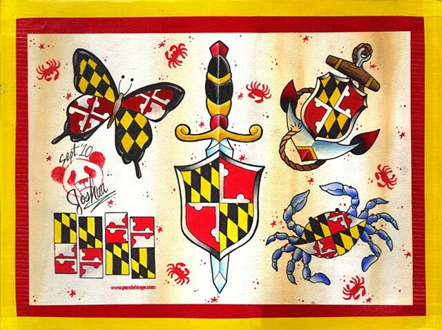 28 best maryland images on pinterest maryland tattoo for Maryland crab tattoo