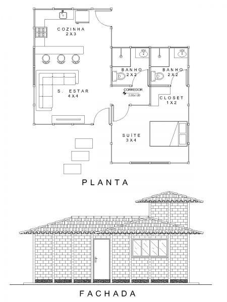 MODELO PINTAGUEIRA - CHALÉS - Detalhes do projeto | Projetos e Execuções de Obra - Green House - Casas Pré Fabricadas