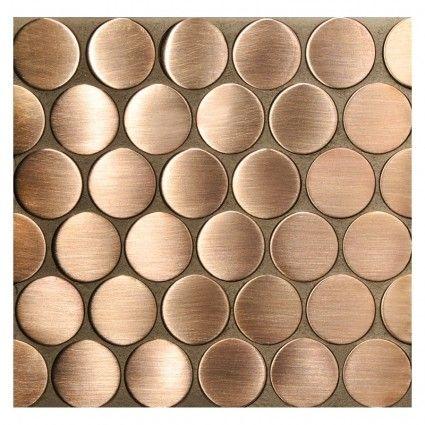 "Complete Tile Collection Mosaica Series, Copper - 1"" Rounds Mosaic, MI#: 043-A2-700-009, Color: Copper"