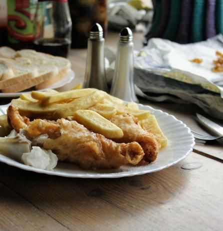 Real English Fish and Chips in a Yorkshire Beer Batter