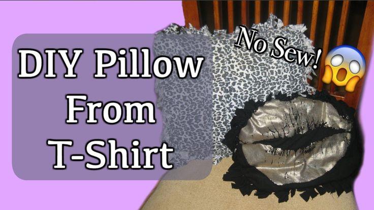 DIY No Sew Pillow | Upcycle Old T-Shirts
