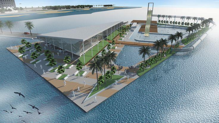 waterpark concept in Jeddah #waterpark #architecture #photoshop #exterior #design