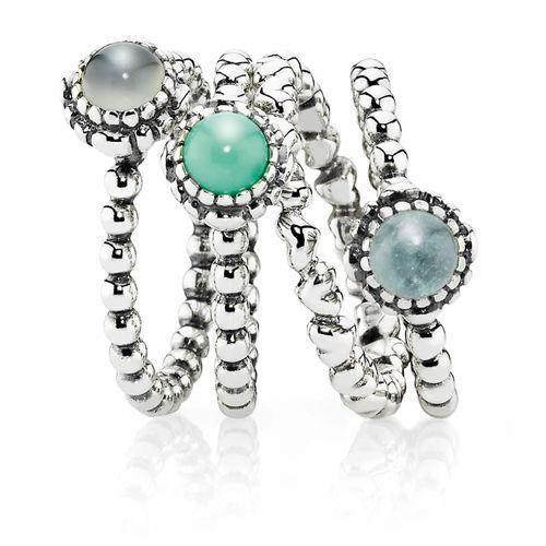 pandora stackable birthstone rings ... my 'wish list' = hubbies birthstone, my birthstone and the hearts ring