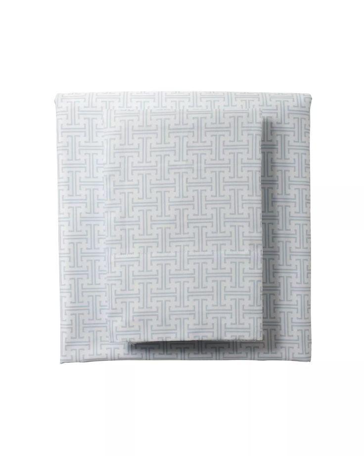 Trellis Sheet Set- Twin Aqua