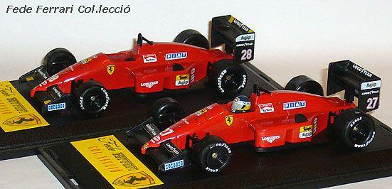 Ferrari F1/87 Turbo de Alboreto y Berger, reproducidos en 1987 por Onix a escala 1:43