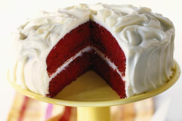 Red Velvet Cake is my husband's favorite birthday cake. The slight sour flavor of the Cream Cheese Frosting helps to play down the sweetness of the cake.