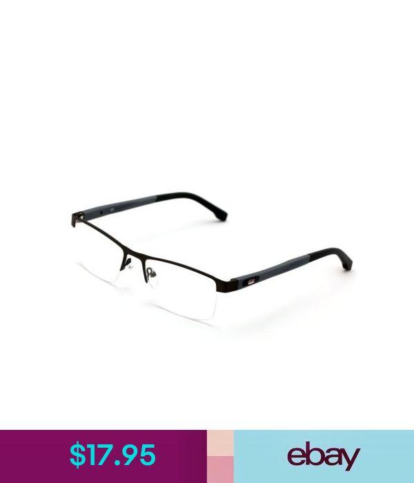Eyeglass Frames Men Rectangular Non-Prescription Glasses Frame Clear Lens Rx'Able Eyeglasses Tr9 #ebay #Fashion