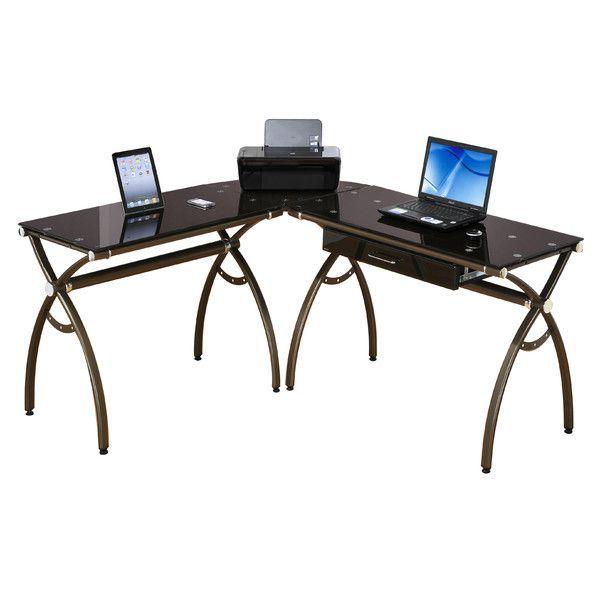 Techni Mobili L Shaped Computer Desk L Shaped Corner Desk Computer Workstation Desk Desk