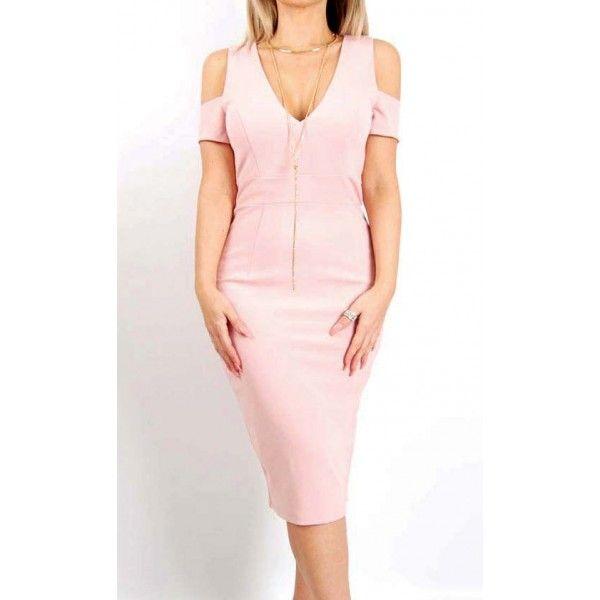 Leilee Open-Shoulder Race Party Dress