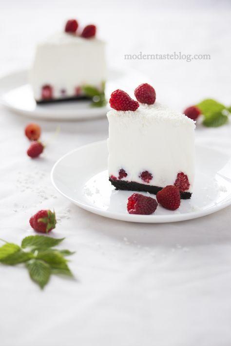 coconut and raspberry no bake cheesecake