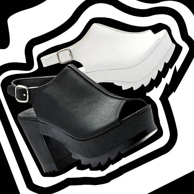Ripple platform heels at Novo Shoes
