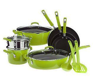 Rachael Ray 13-piece Gradient PorcelainEnamel Cookware Set