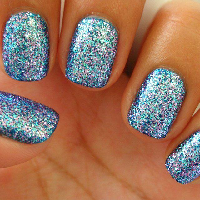 mermaid sparkle nails