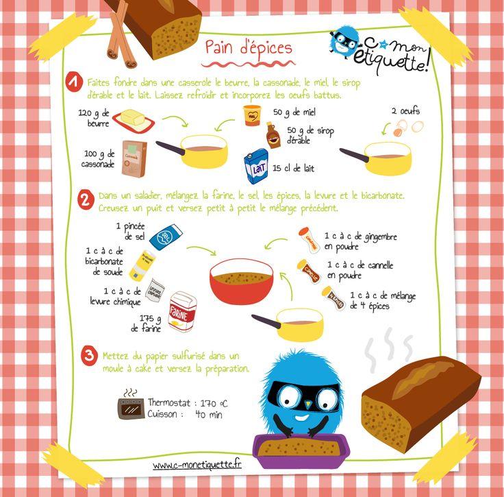 recette de pain d'épices                                                                                                                                                                                 Plus
