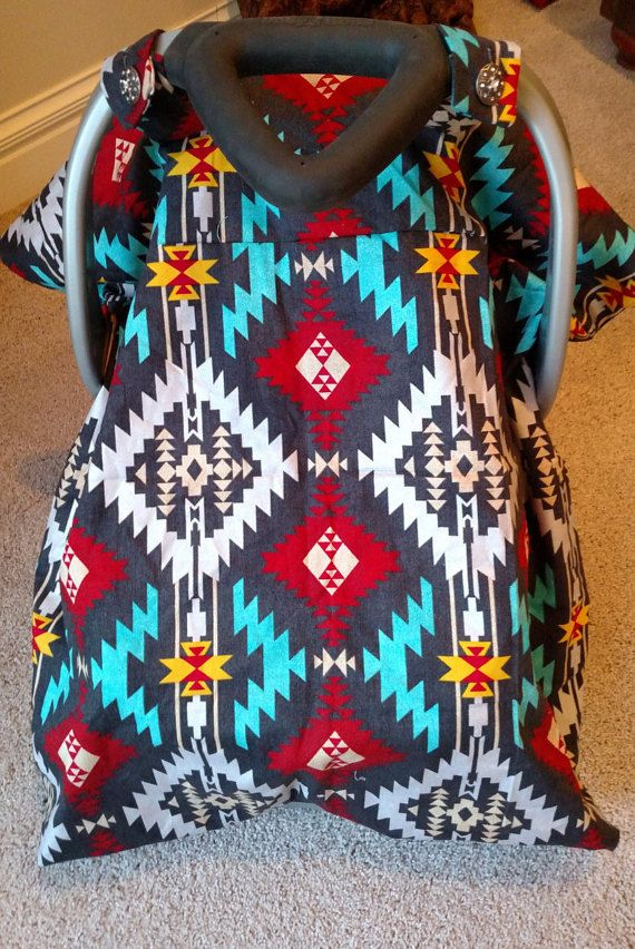 Southwestern Car Seat Canopy by PrairieCoutureShop on Etsy