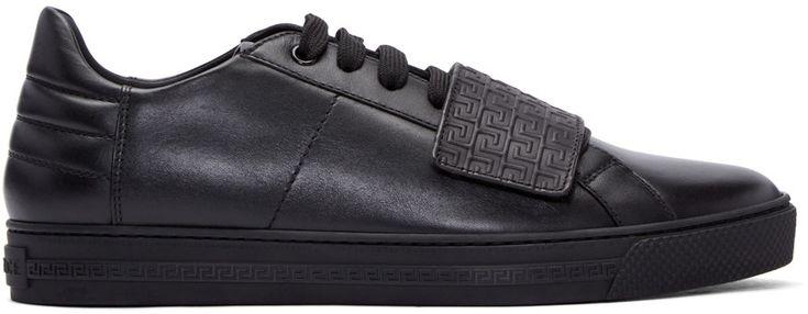 460€ Versace - Baskets noires Greek Key