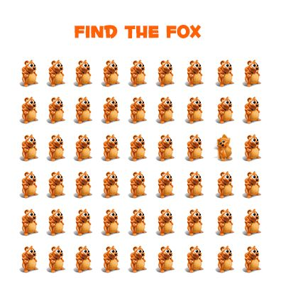 Wonga IQ: Repin after you find the fox!