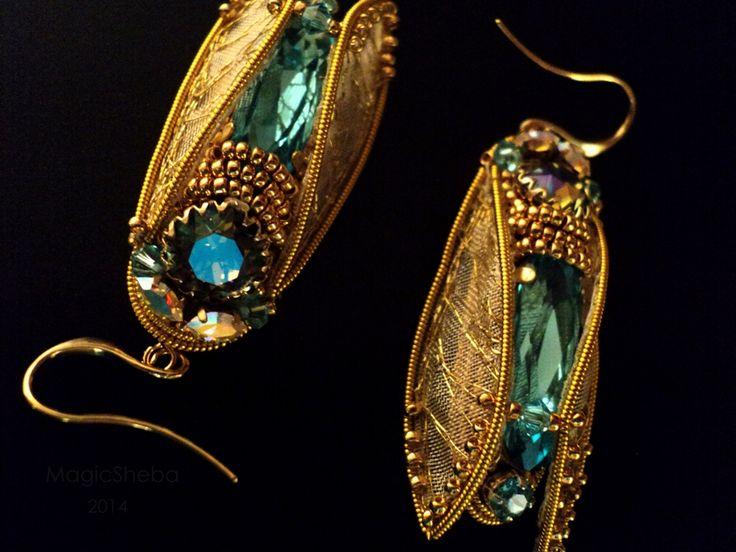 Cicada. Earrings