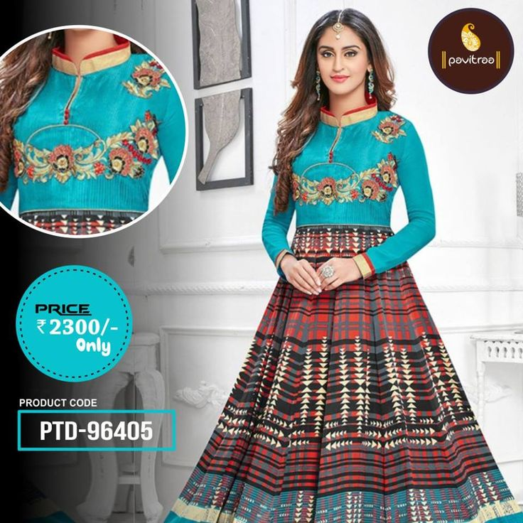 Latest new arrival digital printed wedding anarkali salwar suit gives you catchy appearance.