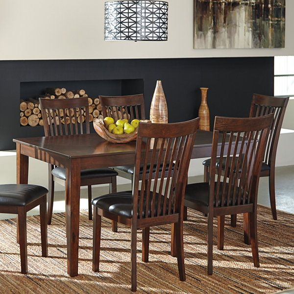 Signature Design By Ashley Rushville 7 Piece Rectangular Dining
