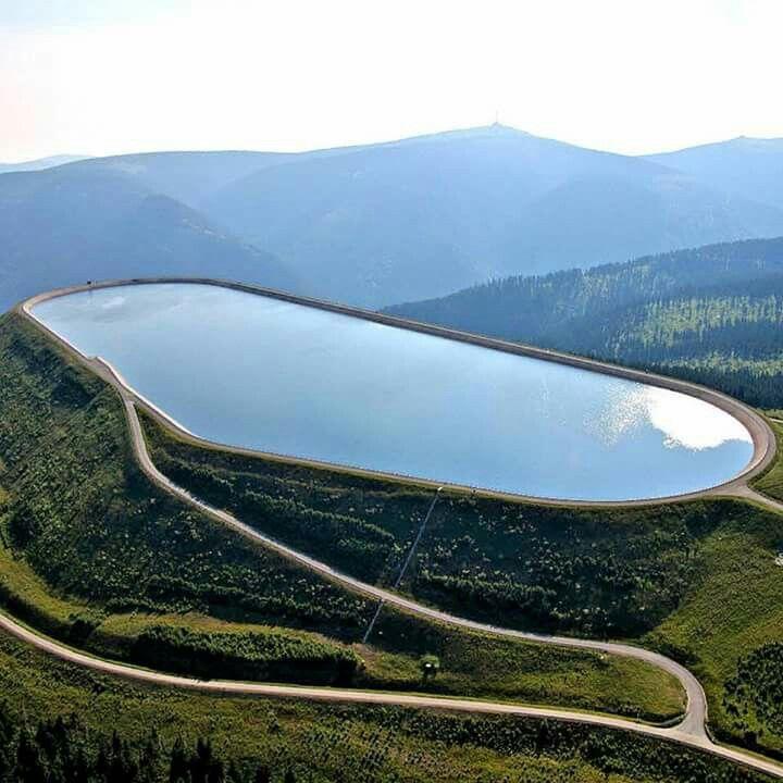 Dlouhé Stráně reservoir, Šumava, Czech Republic