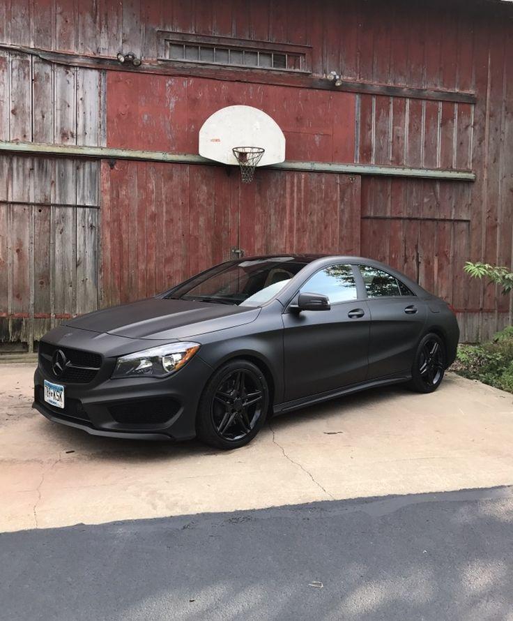 Mercedes Benz Cla Matt Black Benz Black Cla