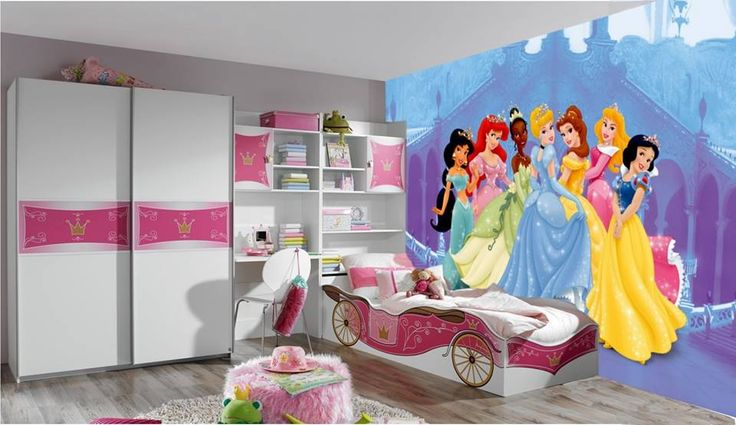 Amazing bedroom for a girl| The colorful painting on a wall for a girl | #kidsbedroomsets #kidsfurniture #kidsroom www.kidsbedroomideas.eu