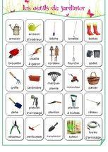 Vocabulaire - les outils du jardinier