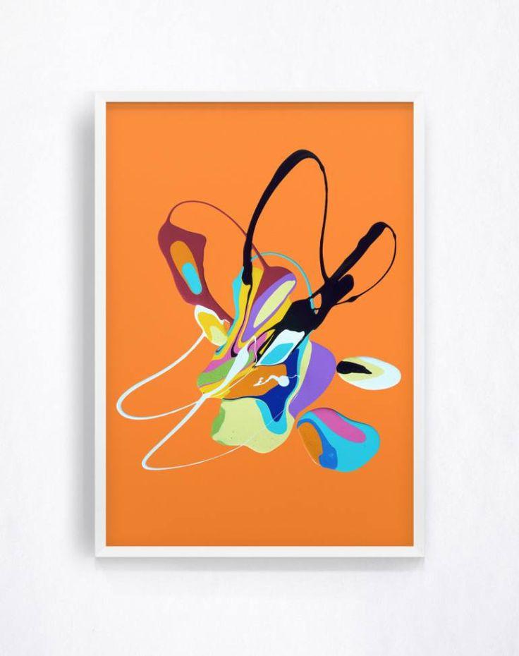 """Saatchi Art Artist Charlie Edmiston; Painting, """"Untitled (splat series #12)"""" #art"""