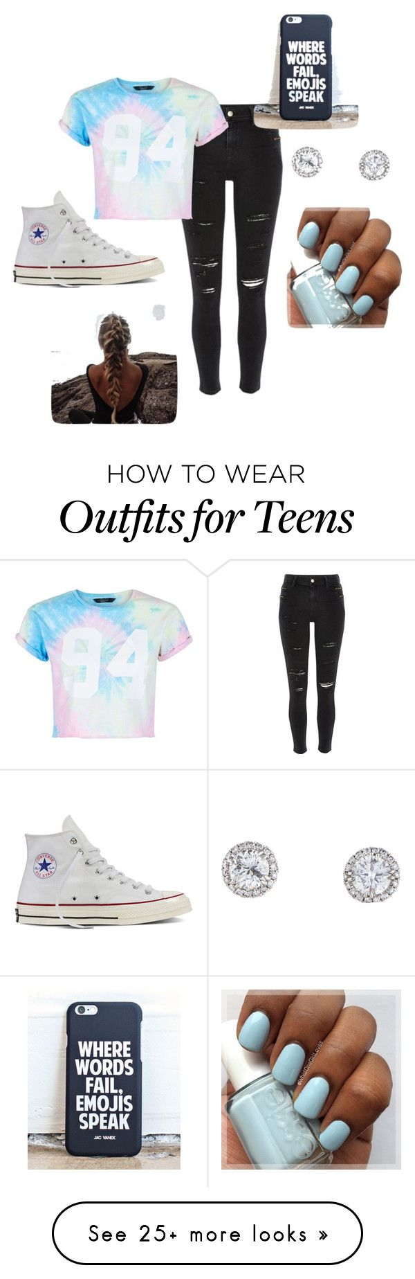 """Middle school"" by dancegymnastics23 on Polyvore featuring River Island, New Look and Converse"