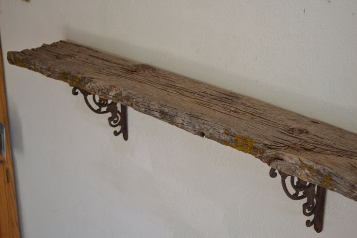 Riverside Road weathered barn wood wall shelf simple and unique 53 inches wide 8 inches deep extremely rustic wall decor 11 inches tall. $215.00, via Etsy.
