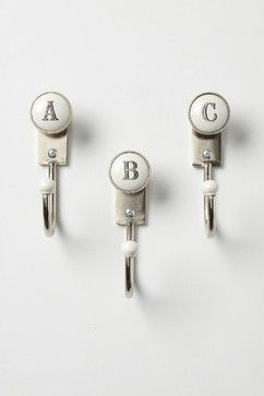 Alphabet Hooks - eclectic - towel bars and hooks - other metro - Anthropologie