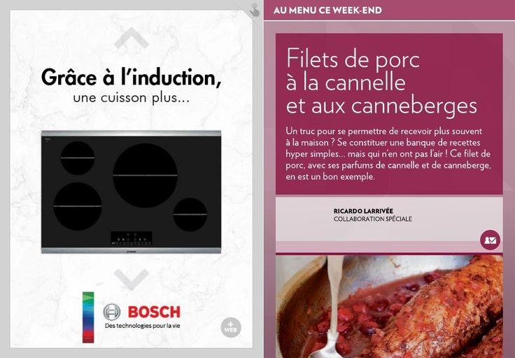 Filets de porc à la cannelle et aux canneberges - La Presse+
