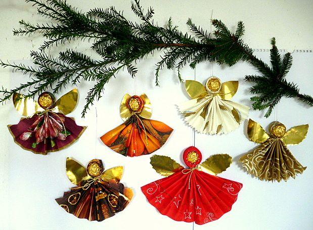 Engel aus Servietten - Weihnachten-basteln - Meine Enkel und ich
