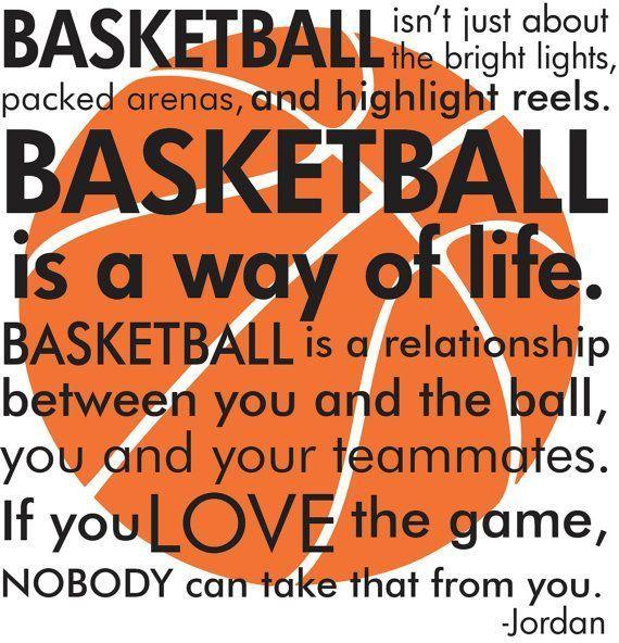 Basketball Michael Jordan quote with basketball subway art words vinyl wall decal #basketballfacts