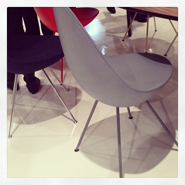 #ArneJacobsen's Drop Chair at #FritzHansen.2Modern 2Modern, Icff Nycxdesign, Arnejacobsen Drop, Drop Chairs, Icff 2014, Instagram Photos