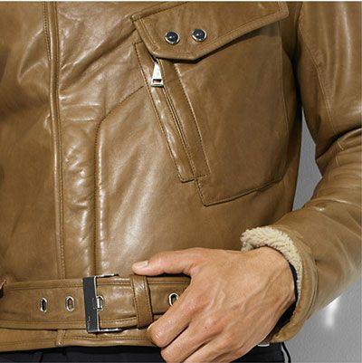 Мужская кожаная куртка в стиле Бонда Кожаные куртки и дуб...