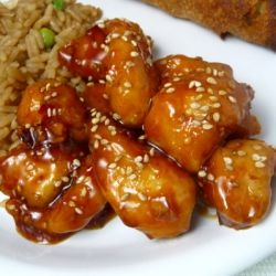A quick easy Chinese favorite made right at home - Honey Sesame Chicken!