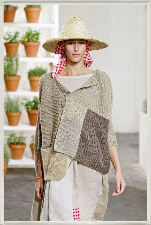 daniela gregis revives the art of crochet andknitting - i love pom-poms blog - deconstructed - patchwork knit - image only - love this