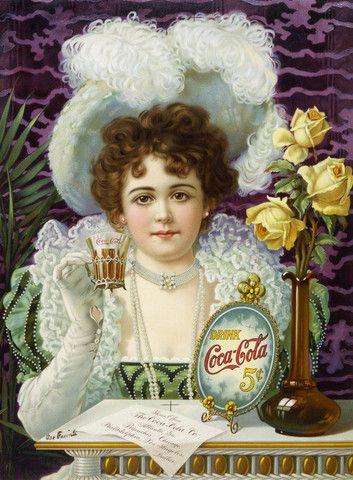 Drink Coca-Cola: 5 Cents circa 1890s