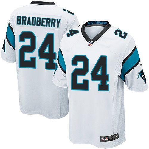 $24.99 Men's Nike Carolina Panthers #24 James Bradberry Game White NFL Jersey