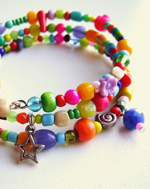 new colourful bracelets made by silly old suitcase