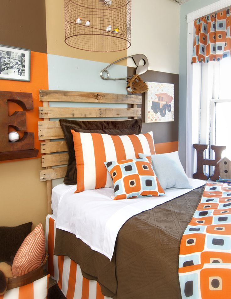 36 best dillion 39 s room ideas images on pinterest kids for Brown and orange bedroom ideas