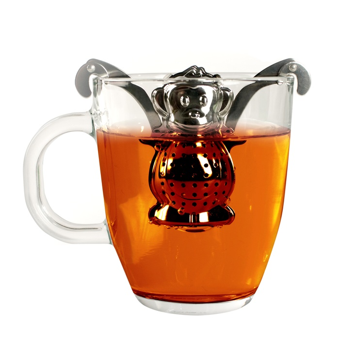 Tea Monkey Tee-Ei - witziges Teesieb in Form eines Äffchen. http://www.megagadgets.de/tea-monkey-tee-ei.html