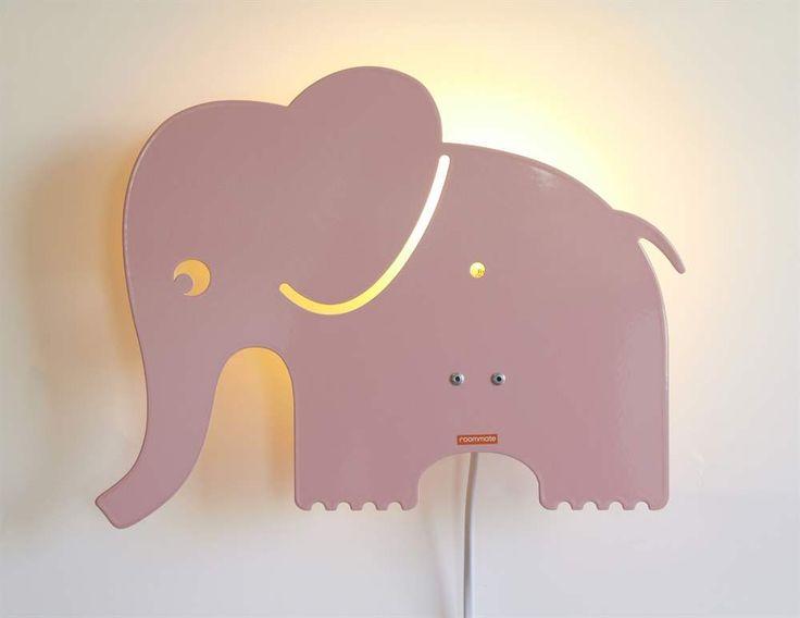 Roommate, Vägglampa, Elefant, Rosa Vägg- & sänglampor Belysning Barnrum på nätet hos Lekmer.se