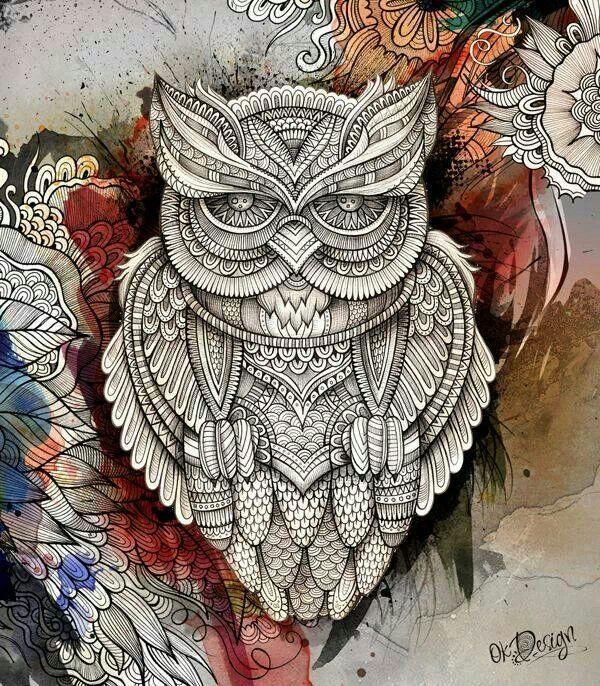 Cool Owl Tattoo Love Pinterest